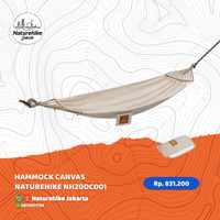 HAMMOCK CANVAS NATUREHIKE NH20DC001 AYUNAN CAMPING OUTDOOR WATERPROOF - KHAKI