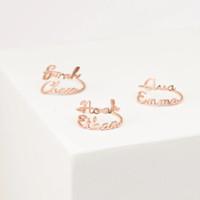 Luna Kitsune Ring Cincin Custom Nama Pasangan Anak 18 k gold emas