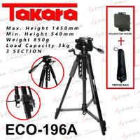 Tripod Takara ECO-196A - DSLR Nikon Canon Sony - Holder U Phone