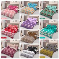bed cover set sprei FLAT karet uk 180x200 lady rose motif A