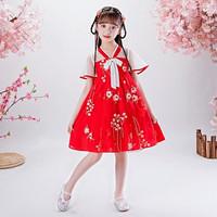 Dress Hanfu/Cheongsam/ Imlek Anak dan Remaja Perempuan - HFD1942 Merah
