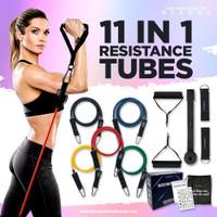 SVARGA Resistance Band / Resistance Tubes 11 in 1 | 5 Strength Levels