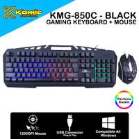 Gaming Combo Komic KMG-850C - 1200DPI Membrane Keyboard RGB - Black