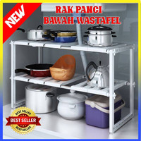 Rak Panci Bawah Wastafel Kitchen Rak Dapur Tempat Bumbu - 100318