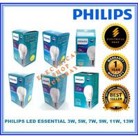 PHILIPS LAMPU LED ESSENTIAL 3W 5W 7W 9W 11W 13W PUTIH KUNING (GROSIR)