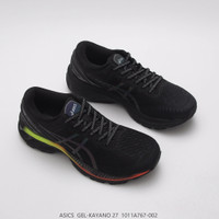 'sepatu olahraga asics gel kayano 27 black original'
