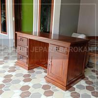 meja kantor meja kerja 1 biro kayu jati