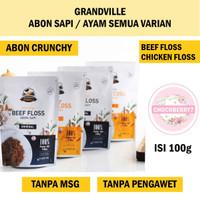 ABON GRANDVILLE Abon Sapi Ayam 100g Chruncy Beef Chicken Floss 100 g