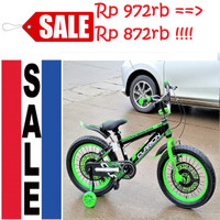 OJOL 18 INCH BMX CLARION 8502 BAN 3.0 SEPEDA ANAK PACIFIC MURAH