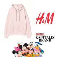 HOODIE H&M DISNEY MICKEY BORDIR FULL TAG HNM, SWEATER H&M PRIA/WANITA