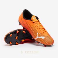 Sepatu Bola Puma Ultra 4.1 FG Orange Black Original
