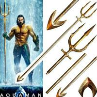 DC AQUAMAN Gold Trident Lifesize 1 : 1 Metal Replica