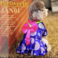 Baju cheongsam anjing kucing untuk imlek sincia CNY bahan premium 6