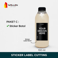 Cetak / Print Sticker Label Botol Minuman Kopi Coffee Anti Air Custom