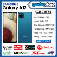 SAMSUNG GALAXY A12 6/128GB - Garansi Resmi SEIN - Hitam