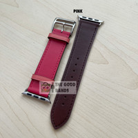 SALE! Strap Apple Watch Hermes Single Leather Kulit 38m 40mm 42mm 44mm