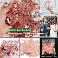 confetti isian balon ROSE GOLD / Glitter isian balon transparan balon