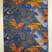 kanvas London coklat dan london taman ( 50 cm x 150 cm ) - Abstrak coklat