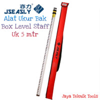 Rambu Ukur Bak 5 meter Alat Pengukur Box Staff Level Jseasly