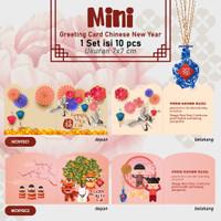 Greeting Card Chinese New Year Kartu ucapan Angpao Imlek Hangtag Mini