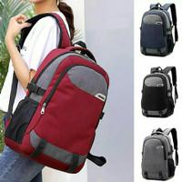 Tas Ransel Pria / Backpack Laptop Denim / Premium LE45IM