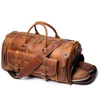Tas Kulit travel - travel bag - sport bag - tas sport kulit asli - tas