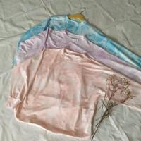 Tie Dye Oversized T-shirt   Kaos Jumputan Pelangi Pastel Bigsize