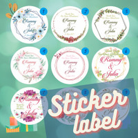 Sticker Stiker Label Thank You Card Souvenir Undangan Pernikahan