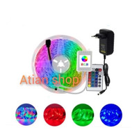 lampu LED strip RGB 5 meter + controller+ adaptor