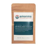 Spirulina platensis powder Bubuk spirulina 50 gram - AMORINA