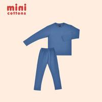 MINI COTTONS KIDS PIYAMA SET SLATE BLUE TEE