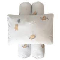 Cottonseeds Pillow Bolster Set Brown Bear