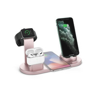 Qi Wireless Charger 4 in 1 FAST Charging Station Android Apple Airpod