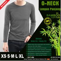 Kaos Polos Katun Bambu Lengan Panjang (Bamboo T-Shirt Long Sleeve)