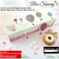 Box Sunway-4 / Box Roll Cake / Box Lapis Gulung / Box Cookies - 6pcs