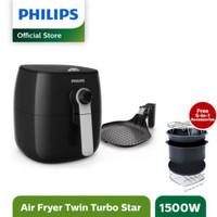 Free Accessories Philips Air Fryer HD-9723 / HD9723 Black