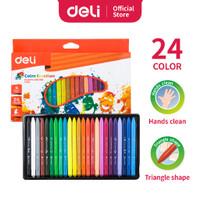 Deli Plastic Crayon Color Emotion C200 24 Warna / Krayon Oil Pastel