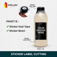 Paket Sticker Label dan Seal Botol Minuman Kopi Coffee Anti Air Custom
