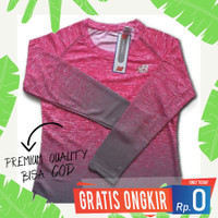 Baju Kaos Olahraga Wanita Sepeda Running Jumbo Lengan Panjang S-XXXL