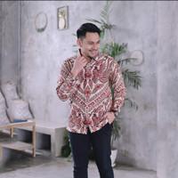 baju kemeja batik pria lengan panjang pendek pesta kantor modern murah - S