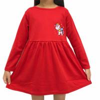 Dress Anak Perempuan Lengan Panjang Kaos Katun 1-3 Tahun Cute Poni