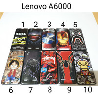 Case Hitam Superhero Lenovo A6000 / Soft Case Lenovo A6000