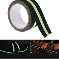 Glow in The Dark Stiker fosfor Anti Slip tangga-anti Licin Lantai