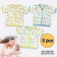 3in1 Baju Bayi Lengan Pendek Kaos Bayi Newborn (0-6 Bulan) BCS-053KK