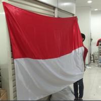 bendera merah putih 2 x 3 m bahan saten