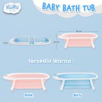 Bak Mandi Bayi Lipat KURU Foldable Silicone | Infant Folding Bath Tub