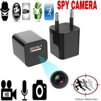 Spy Cam Camera M1 Alat Sadap Camera USB Charger Adeptor - Hitam
