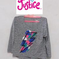 Justice T shirt Crop Tee Heather kids dewasa Original