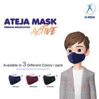 Masker Kain ATEJA MASK ACTIVE 3 Ply Non Medis Duckbill Earloop Aktif