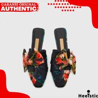 Sandal Flat Zara Wanita Original Branded Store NG223 - Black, 35